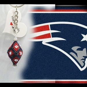 Football Keychain (Patriots)